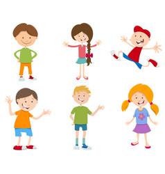 Cartoon set of children vector