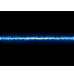 Blue sound wave on white background  eps10 vector