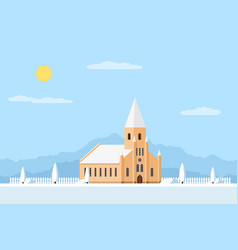 Catholic church building vector
