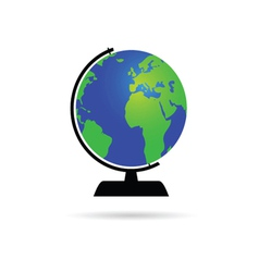 Globe of the world color vector