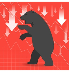 Bear market presents downtrend stock market vector