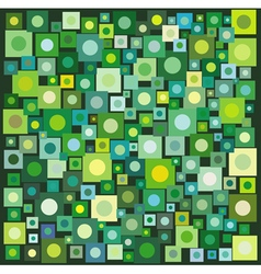 Circle square collection in many green yellow vector
