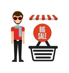 Great shopping day vector