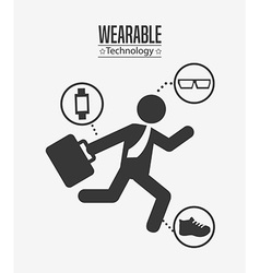 Wearable technology design vector
