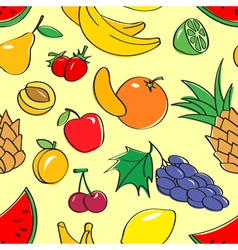 seamless pattern with fruits vector image