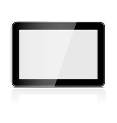 Black generic tablet pc vector image