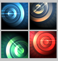 abstract technical background set vector image vector image