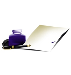 Accessories of writer vector image