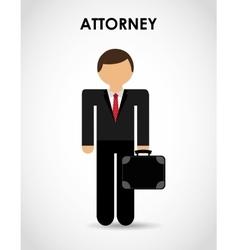 Attorney icon vector