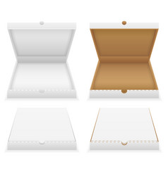cardboard pizza box empty template stock vector image