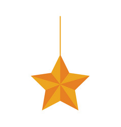 Christmas star hanging decoration design vector