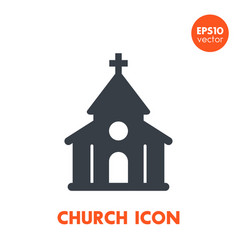 Church icon over white vector