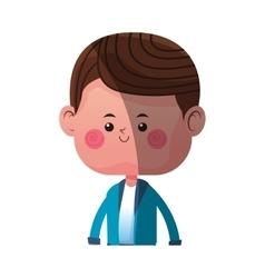 cute boy cartoon icon vector image