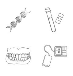 Dna code blood test in vitro denture tonometer vector
