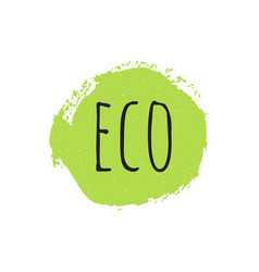 eco round stamp logo or sign vector image