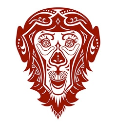 Ethnic ornamented monkey vector image vector image