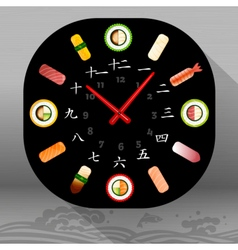 Food japanese dishes vector