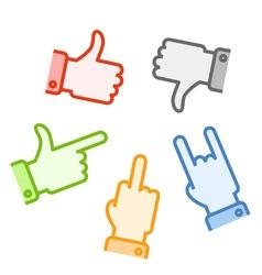 Gestures vector image