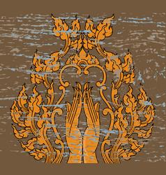 Hand of thai art pattern vector