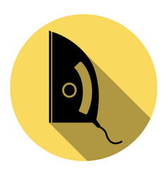 Iron sign flat black icon with flat vector
