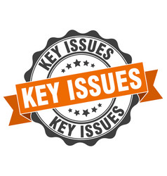 Key issues stamp sign seal vector