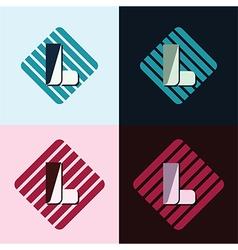 Letter l logo vector