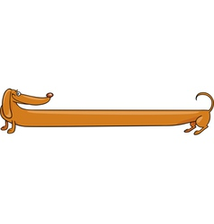 Long dachshund dog cartoon vector