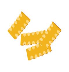 Mafaldine pasta uncooked italian pasta macaroni vector