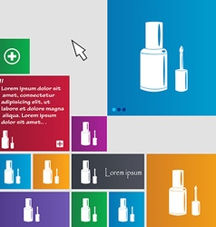 Nail polish bottle icon sign buttons modern vector