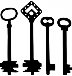 old fashioned skeleton keys vector image
