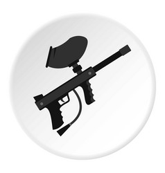 Paintball marker gun icon circle vector
