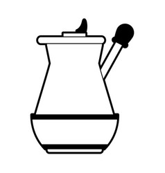 press coffee related icon image vector image