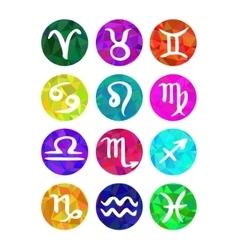 Set of calligraphic zodiac signs horoscope vector image