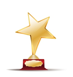 star trophy red vector image vector image