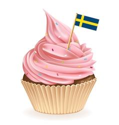 Swedish cupcake vector