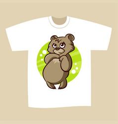 T-shirt print design bear vector