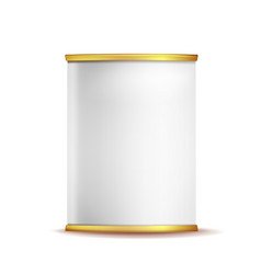tin box can template 3d realistic empty vector image vector image