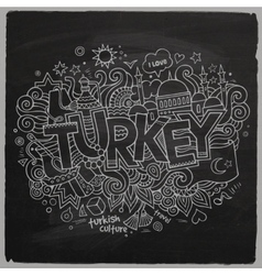 Turkey chalkboard background vector