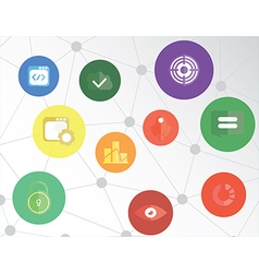Web Icons Concept vector image