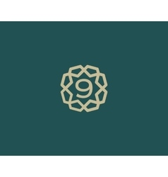 Premium number 9 logo icon design Luxury vector image