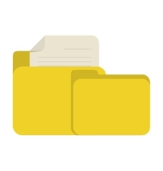 yellow folder file document report paper vector image