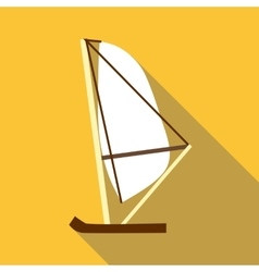 Yacht icon flat style vector