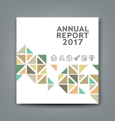 Cover new annual report colorful triangle design vector