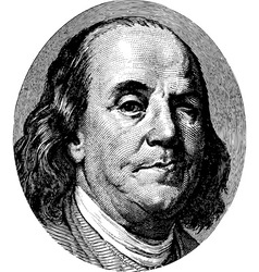 Franklin vector image