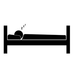 Man sleeping the black color icon vector