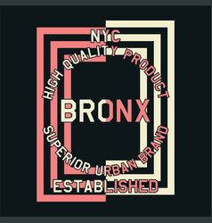 Nyc quality product bronx vector