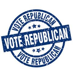 Vote republican blue round grunge stamp vector