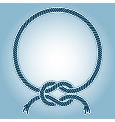 sea knot ring vector image
