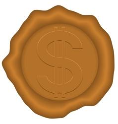 Dollar and sealing wax vector image
