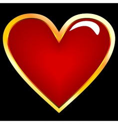 realistic illustration of golden heart vector image